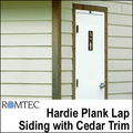 Hardie Plant Lap Siding with Cedar Trim for Romtec Public Restrooms