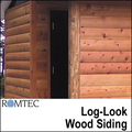 Romtec Public Restroom Exteriors - Log-Look Wood Siding