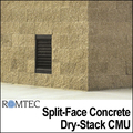 Split-Face Concrete Exterior for Public Restrooms by Romtec