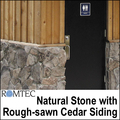 Natural Stone and Cedar Siding for Public Restroom Buildings