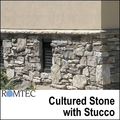 Romtec Public Restroom Exteriors - Cultured Stone with Stucco