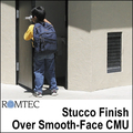 Romtec Public Restroom Exteriors - Stucco Finish over Smooth-Face CMU